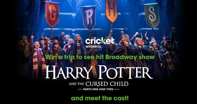 Cricket Wireless Harry Potter and the Cursed Child in New York Sweepstakes