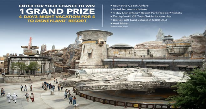Disney Star Wars Galaxy's Edge Adventure Awaits Sweepstakes