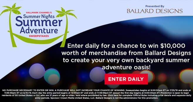 Hallmark Channel Summer Nights Summer Adventure Sweepstakes