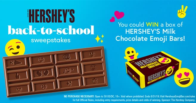Hershey's Back To School Sweepstakes
