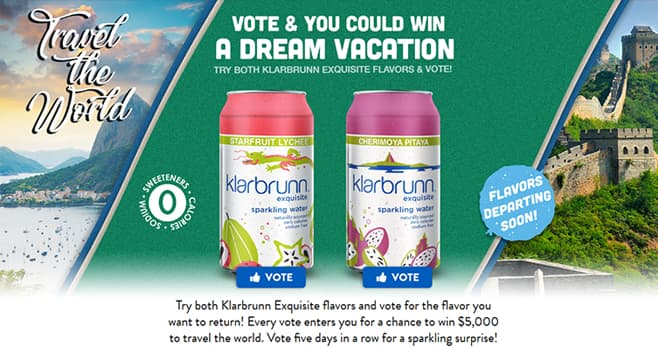 Klarbrunn Sparkling Travel the World Sweepstakes