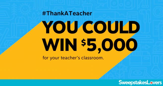 Staples Thank A Teacher Sweepstakes 2020