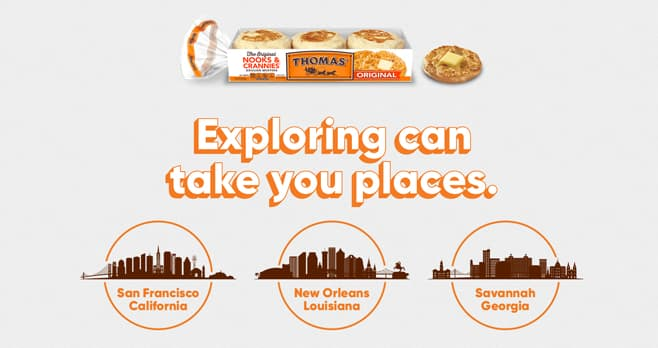 Thomas' English Muffins Explore What's Possible Sweepstakes