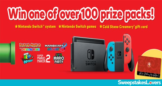 Cold Stone Creamery Nintendo Switch Sweepstakes 2020