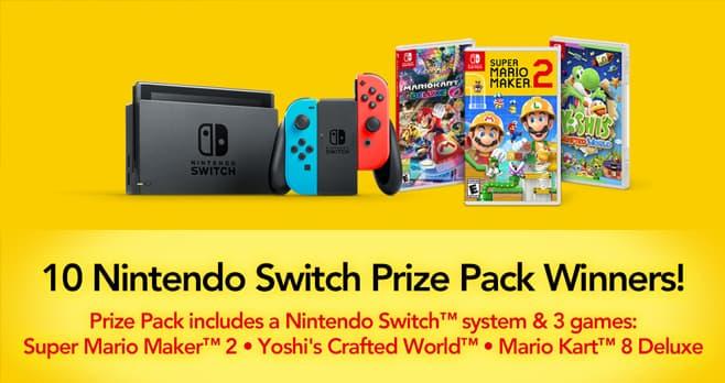 Cold Stone Creamery Nintendo Switch Sweepstakes