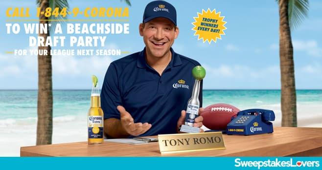 Corona Football Instant Win Game & Sweepstakes 2020