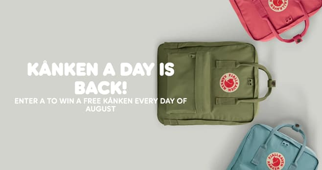 Fjallraven Kanken Backpack Giveaway