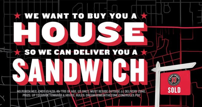 Jimmy John's House Giveaway