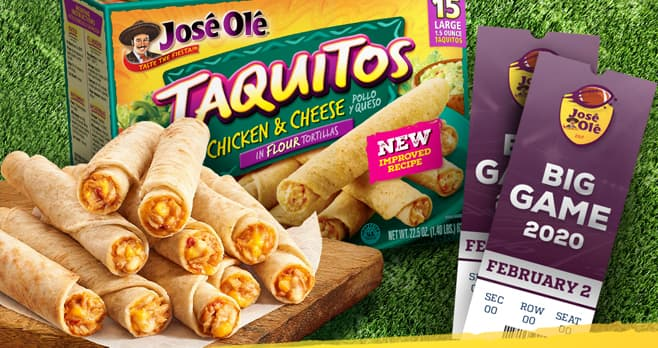 Jose Ole For Game Day Sweepstakes (OleForGameDay.com)