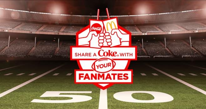 McDonald's Share A Coke Fall Football Sweepstakes (Coke.com/FanMates)