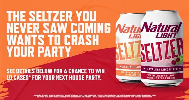Natty Seltzer Party Crash Sweepstakes