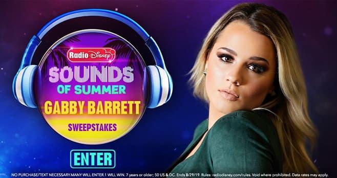 Radio Disney Sounds of Summer Gabby Barrett NBT Sweepstakes