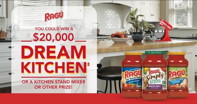 RAGÚ Dream Kitchen Sweepstakes
