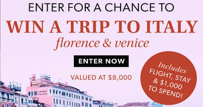 Ross-Simons Trip to Italy Sweepstakes