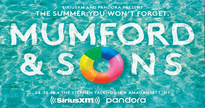 SiriusXM Mumford & Sons Sweepstakes