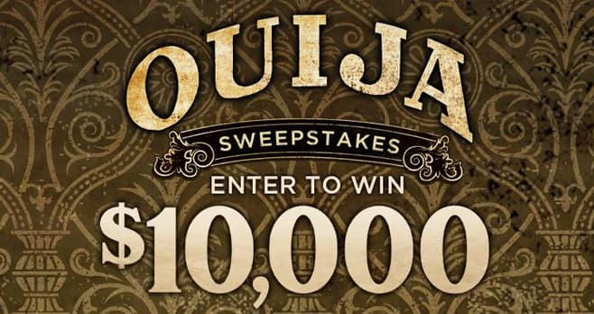 Spirit Halloween Ouija Sweepstakes