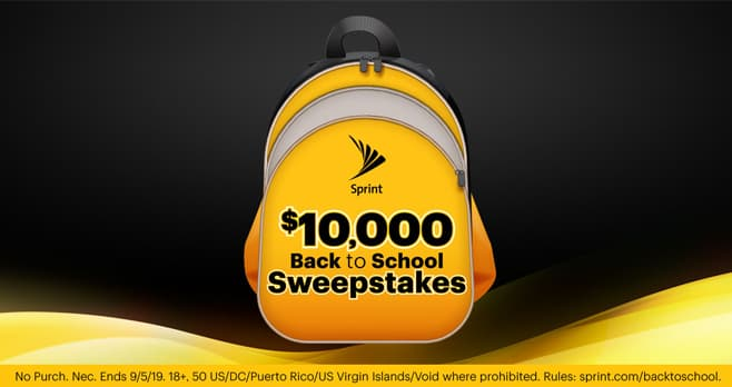 Sprint Back to School Sweepstakes (Sprint.com/BackToSchool)