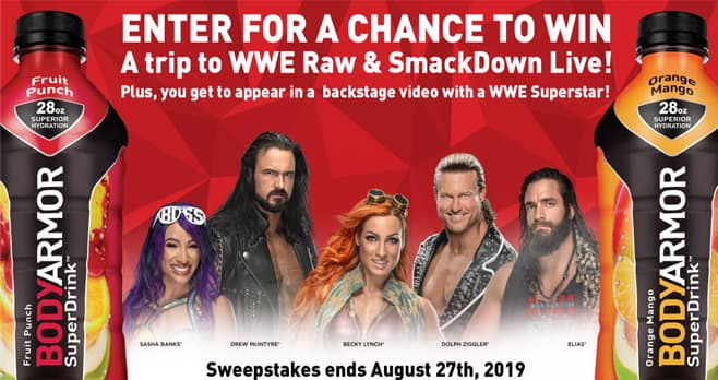 WWE BODYARMOR Sweepstakes