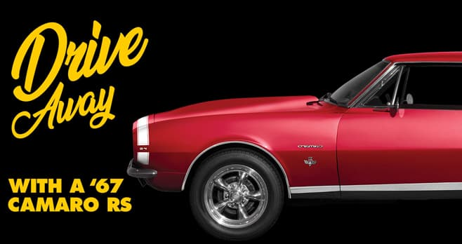 Advance Auto Parts Camaro Sweepstakes