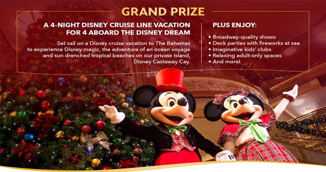 Disney Set Sail with Santa Sweepstakes