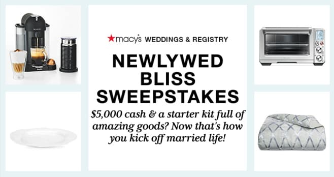 Macy's Newlywed Bliss Sweepstakes