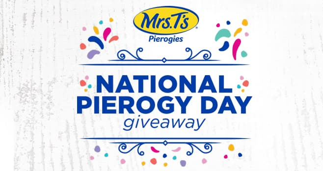 Mrs. T's Pierogies National Pierogy Day Giveaway