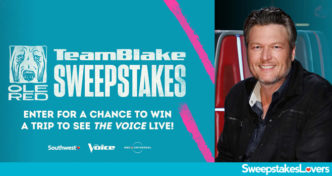 Ole Red The Voice Team Blake Sweepstakes 2020
