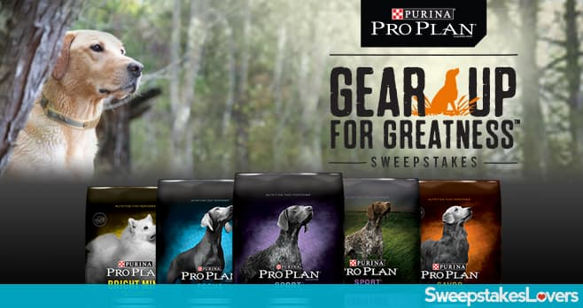 Purina Pro Plan Gear Up for Greatness Sweepstakes