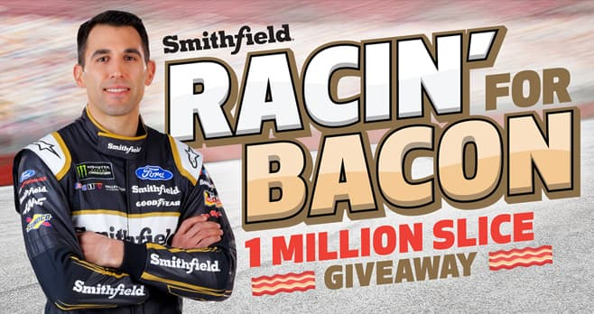 Smithfield Racin' for Bacon Giveaway (RacinForBaconGiveaway.com)