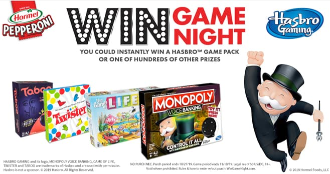 Win Game Night Instant Win Game (WinGameNight.com)