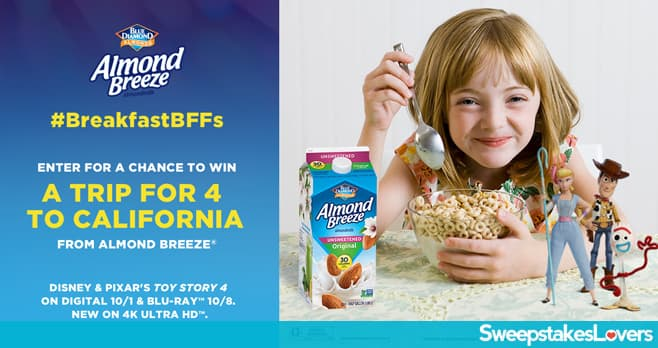 Almond Breeze And Toy Story 4 Sweepstakes