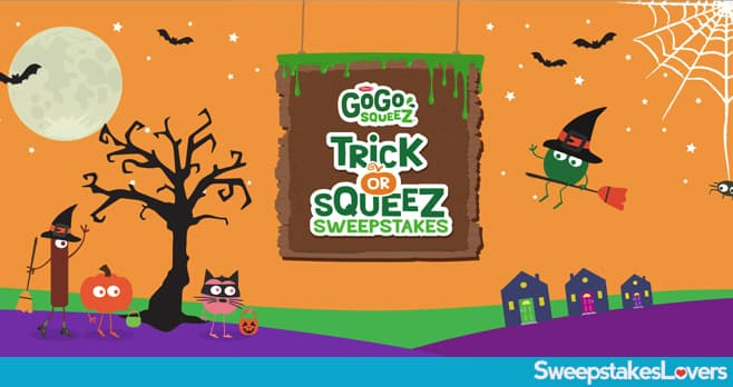 GoGo squeeZ Trick or squeeZ Sweepstakes