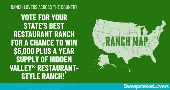 Hidden Valley Restaurant Ranch Sweepstakes
