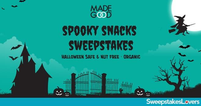 MadeGood Spooky Snacks Sweepstakes