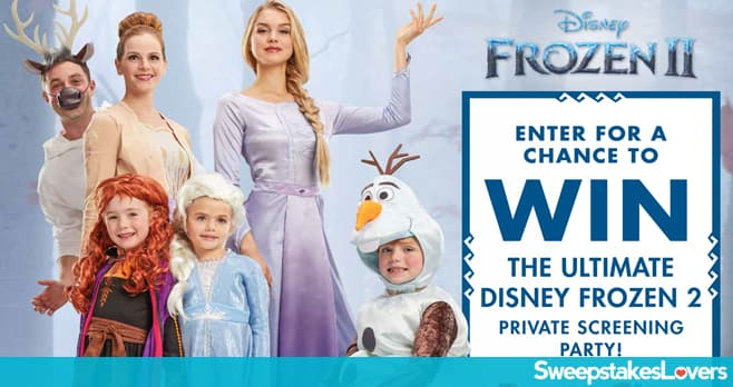 Party City Ultimate Frozen 2 Screening Party Sweepstakes