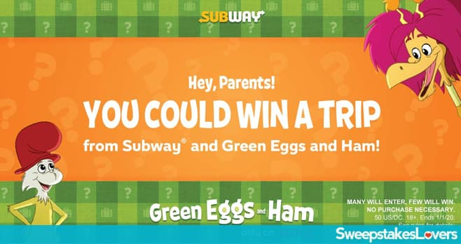 Subway Sam I am Suitcase Surprise Sweepstakes