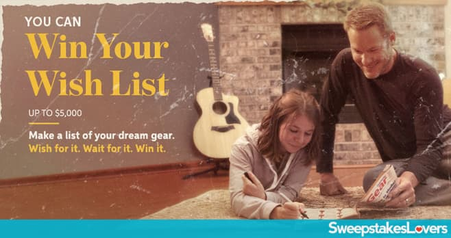 Sweetwater Win Your Wish List Giveaway