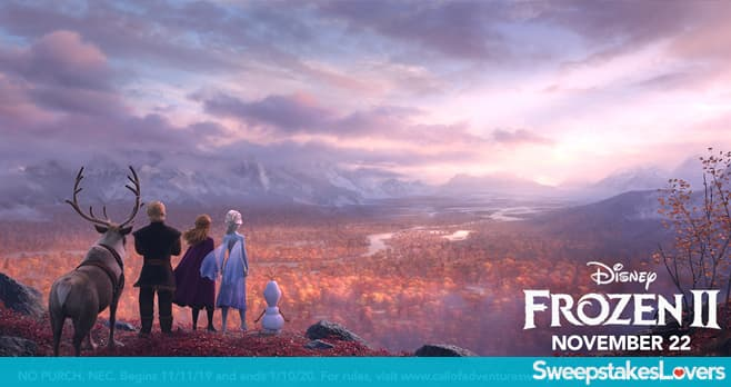 Disney Frozen 2 Call of Adventure Sweepstakes
