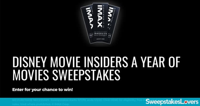 Disney Movie Insiders A Year Of Movies Sweepstakes