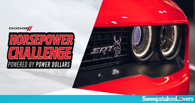 Dodge Horsepower Challenge Sweepstakes