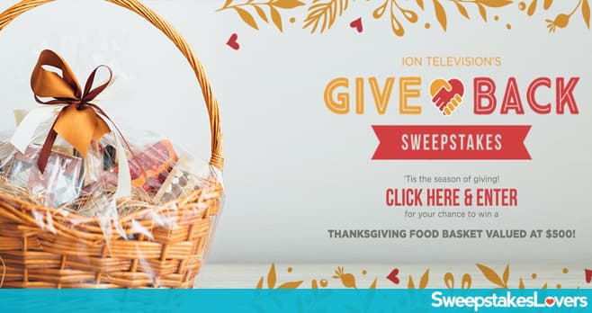IONTelevision.com Give Back Sweepstakes