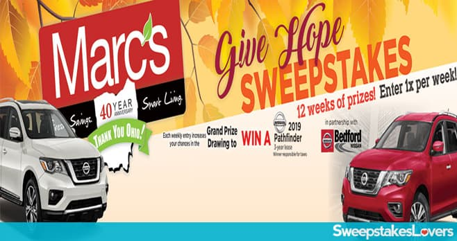 Marc's Give Hope Sweepstakes