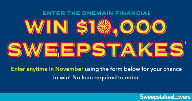 Onemain Financial Win $10K Sweepstakes