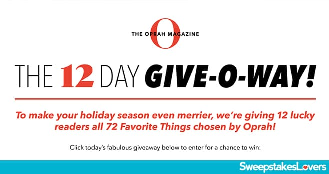 Oprah 12 Days of Christmas 2020 (OprahMag.com/12Days-2020)