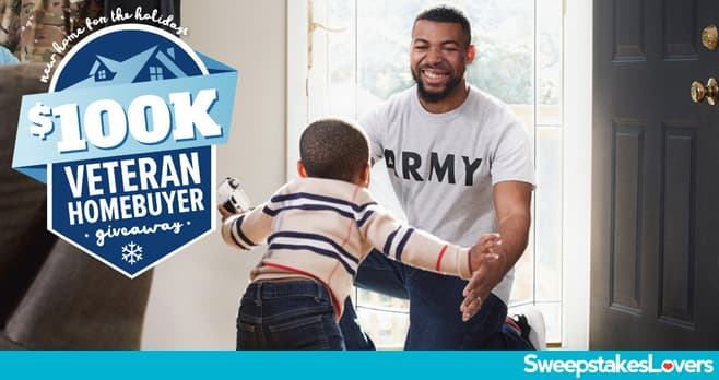 REALTOR.COM New Home for the Holidays $100K Veteran Homebuyer Giveaway 2020