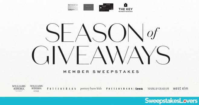 Williams-Sonoma Season of Giveaways Member Sweepstakes