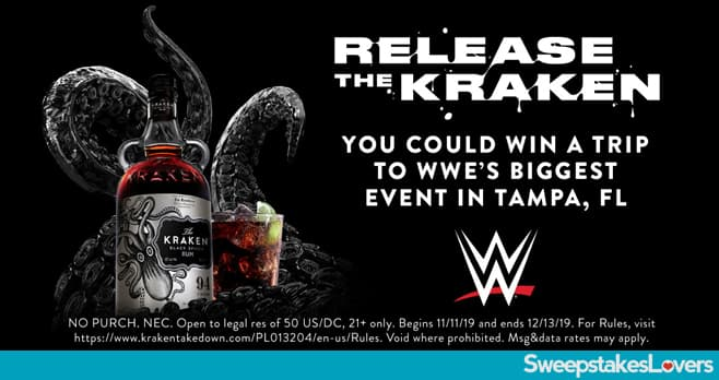 WWE Kraken Rum Finisher Sweepstakes