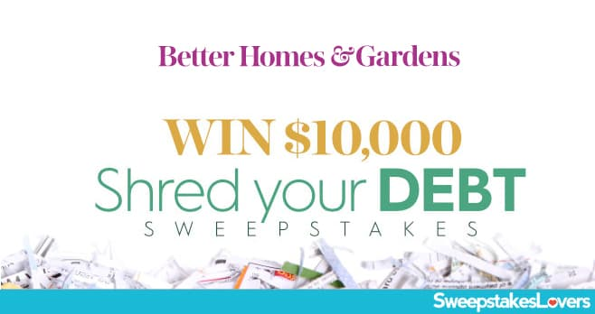 Better Homes And Gardens 10k Winter Sweepstakes Sweepstakes