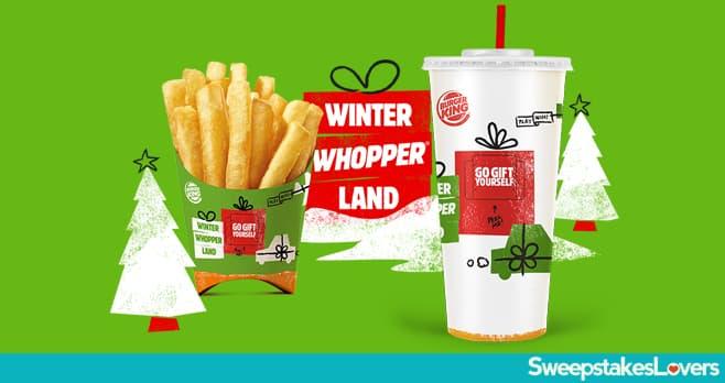 Burger King Winter Whopperland 2019