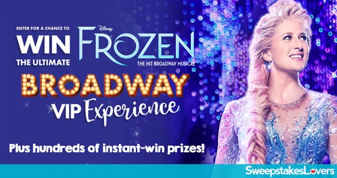 Claire's Frozen Broadway Experience Sweepstakes